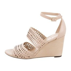 Tory Burch perforated gladiator wedges